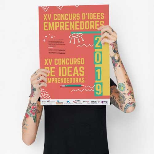 Diseño de carteles publicitarios Ayto. Benidorm 2019