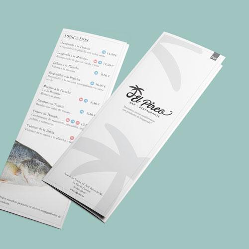 Diseño Carta Menú El Pireo