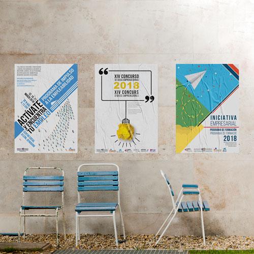 Diseño de carteles publicitarios Ayto. Benidorm