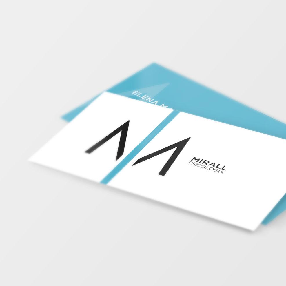 Diseño papelería e identidad corporativa Mirall