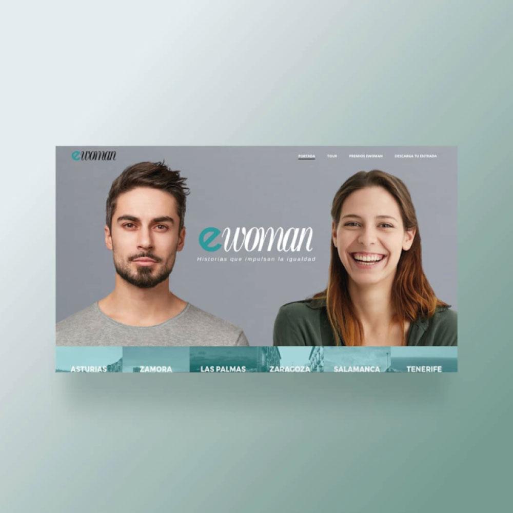 Diseño y programación web Premios Ewoman 2019
