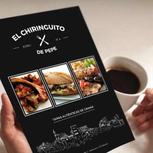 Diseño de cartas para restaurante